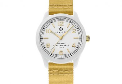 The first collection of socially responsible recycled plastic watches by Sea2See.