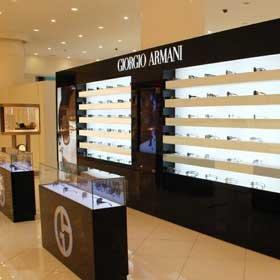 (ENG) The largest Giorgio Armani sunglasses wall at the Dubai Mall