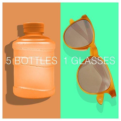Per il 2021 Okia punta a riciclare e trasformare in occhiali un milione di bottiglie.