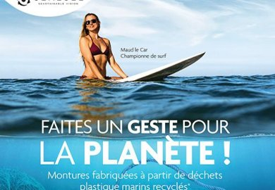 La surfista professionista Maud Le Car è la testimonial della campagna Optic 2000 x Sea2see.