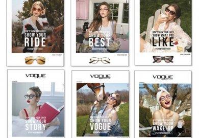 Gigi Hadid si allea a Vogue eyewear